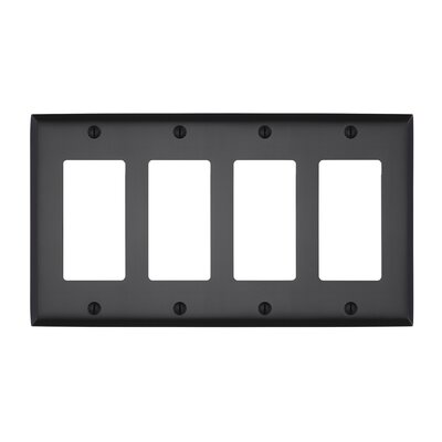 Graham Quad Rocker Light Switch Cover Finish: Oil-Rubbed Bronze