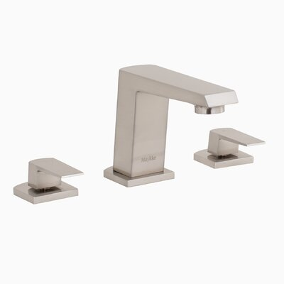 Augusta Widespread Double Handle Bathroom Faucet Finish: Brushed Nickel
