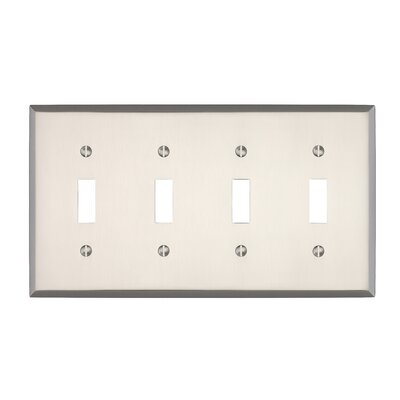 Graham Quad Light Switch Cover Finish: Brushed Nickel