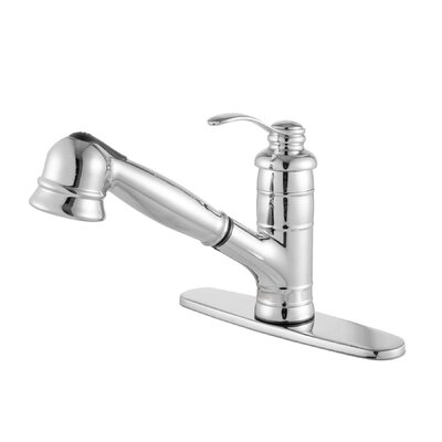 Shelton Single Handle Pull Out Standard Kitchen Faucet Finish: Polished Chrome