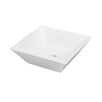 Aachen Square Vessel Bathroom Sink with Overflow