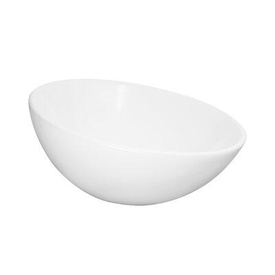 Maykke Ceramic Circular Vessel Bathroom Sink