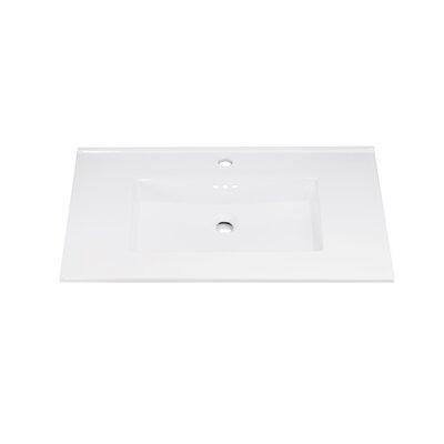 Marbella Ceramic 24 Single Bathroom Vanity Top Faucet Mount: Single