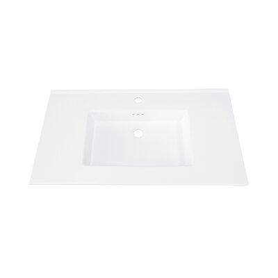Marbella Ceramic 37 Single Bathroom Vanity Top Faucet Mount: Single