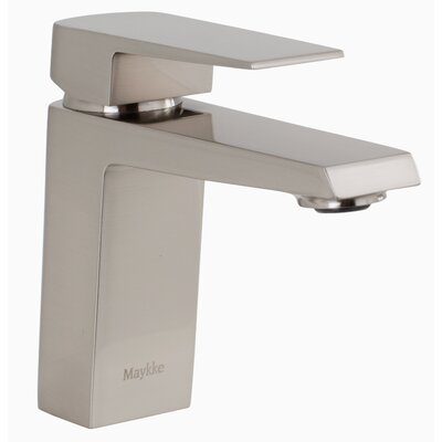 Augusta Single Hole Single Handle Bathroom Faucet Finish: Brushed Nickel