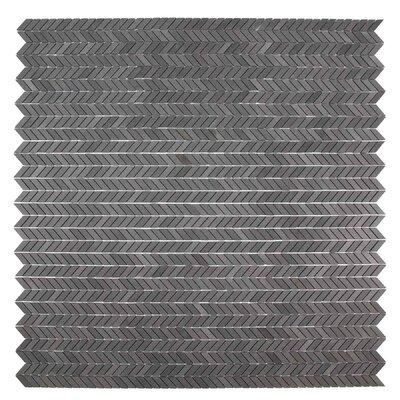 Holden 11.69 x 12.25 Basalt Mosaic Tile in Dark Gray/Neutral Gray