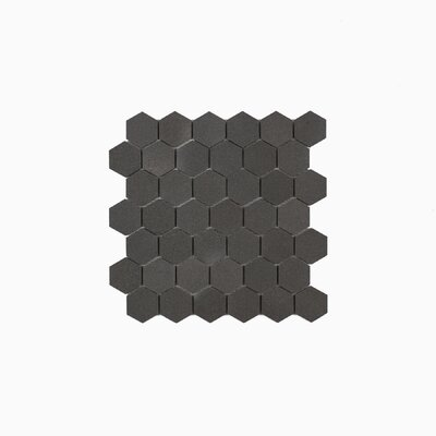 Cooper 11.75 x 11.94 Basalt Mosaic Tile in Dark Gray/Neutral Gray