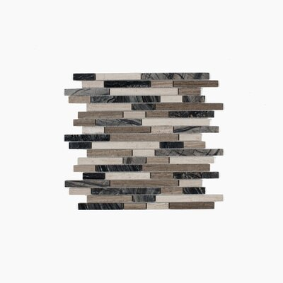 Byron 12.06 x 12.06 Marble Mosaic Tile in Wooden Marble Mix