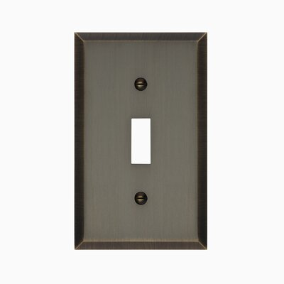 Graham Single Light Switch Cover Finish: Antique Brass