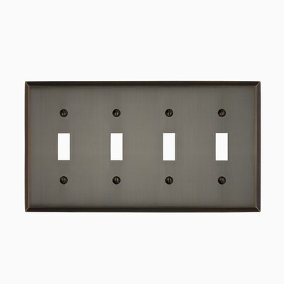 Graham Quad Light Switch Cover Finish: Antique Brass