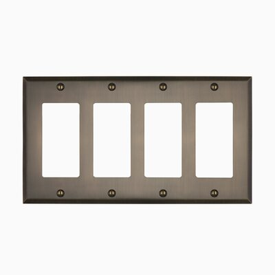 Graham Quad Rocker Light Switch Cover Finish: Antique Brass