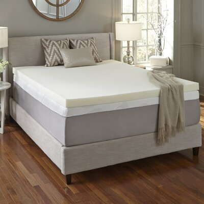 Simmons CURV 2 Flat Memory Foam Mattress Topper Size: California King