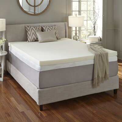 Simmons CURV 3 Flat Memory Foam Mattress Topper Size: California King