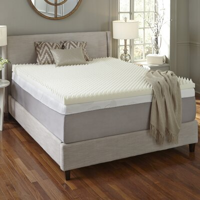 Textured 3 Memory Foam Mattress Topper Size: Queen