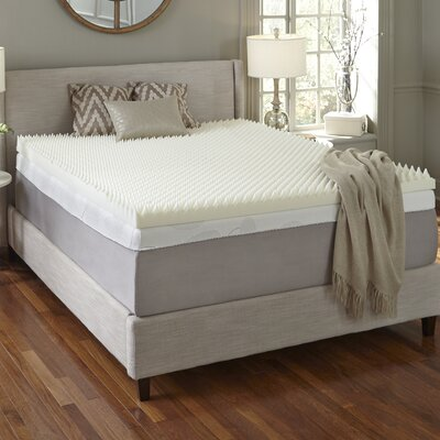 Simmons Curv 4 Textured Memory Foam Mattress Topper Size: Queen