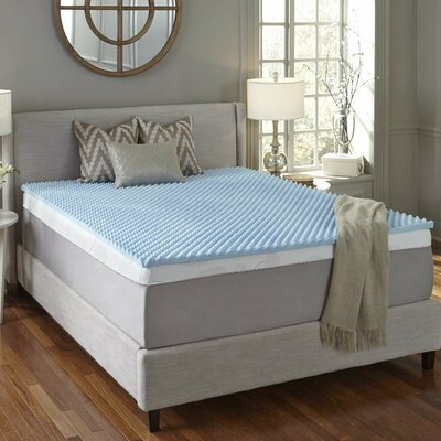 Simmons CURV 2 Textured Gel Memory Foam Mattress Topper Size: Queen