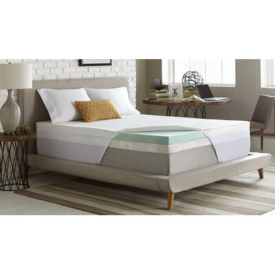 3 Gel Memory Foam Mattress Topper Size: Full