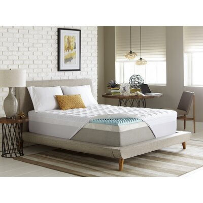 Simmons Reversible 3.5 Gel Memory Foam/Fiber Mattress Topper Size: Queen
