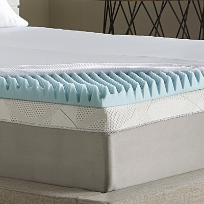 Simmons CURV 3 Gel Memory Foam Mattress Topper Size: Full