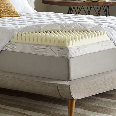 Simmons Reversible 5.5 Memory Foam/Fiber Mattress Topper Size: Twin