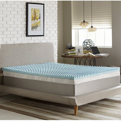 Simmons Reversible 3 Gel Memory Foam Mattress Topper Size: California King
