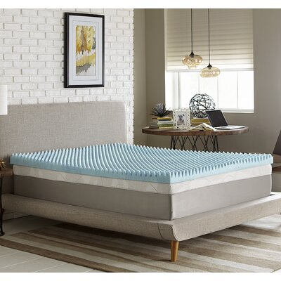 Simmons Reversible 4 Gel Memory Foam Mattress Topper Size: Queen