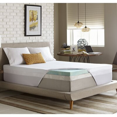 Simmons 3 Gel Memory Foam Mattress Topper Size: California King
