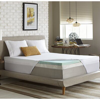 Simmons 2 Gel Memory Foam Mattress Topper Size: Twin