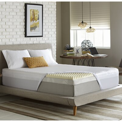Simmons Reversible 3 Memory Foam Mattress Topper Size: Queen