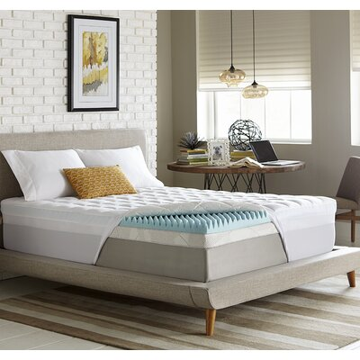Simmons Reversible 4.5 Gel Memory Foam/Fiber Mattress Topper Size: Twin