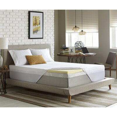 Simmons 2 Memory Foam Mattress Topper Size: Twin