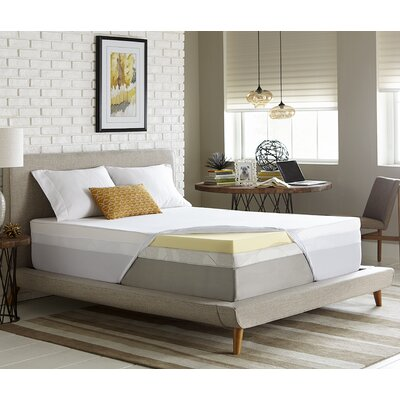 Simmons 3 Memory Foam Mattress Topper Size: Twin