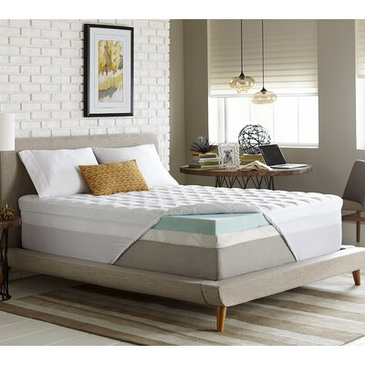 3.5 Gel Memory Foam Mattress Topper Size: California King