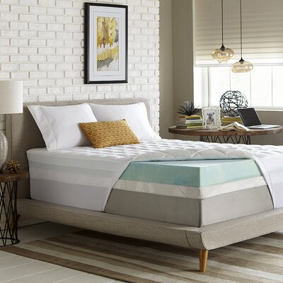 Simmons 5.5 Gel Memory Foam/Fiber Mattress Topper Size: King