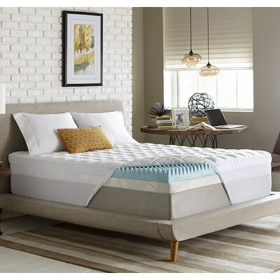 Reversible 5.5 Gel Memory Foam Mattress Topper Size: Twin