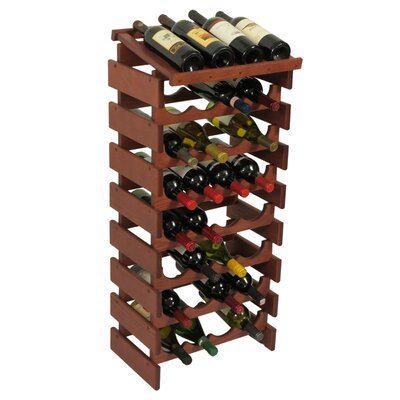 Dakota 32 Bottle Floor Wine Rack Finish: Mahogany