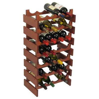 Dakota 28 Bottle Floor Wine Rack Finish: Mahogany
