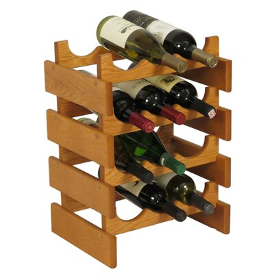 Dakota 12 Bottle Floor Wine Rack Finish: Medium Oak