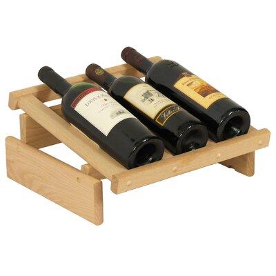 Dakota 3 Bottle Tabletop Wine Rack Finish: Unfinished