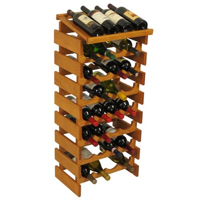 Dakota 32 Bottle Floor Wine Rack Finish: Medium Oak