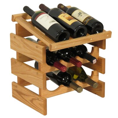 Dakota 9 Bottle Tabletop Wine Rack Finish: Light Oak