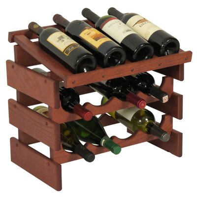 Dakota 12 Bottle Tabletop Wine Rack Finish: Mahogany