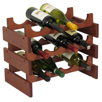 Dakota 12 Bottle Floor Wine Rack Finish: Mahogany