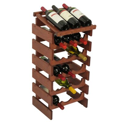 Dakota 18 Bottle Floor Wine Rack Finish: Mahogany