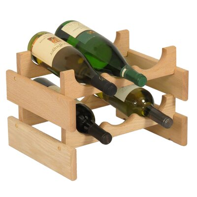 Dakota 6 Bottle Tabletop Wine Rack Finish: Unfinished