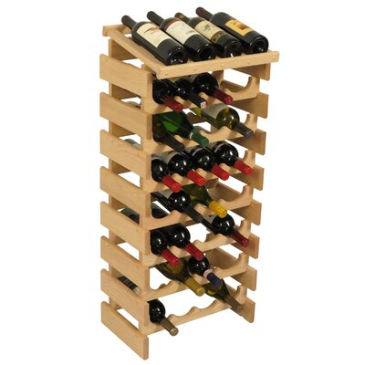 Dakota 32 Bottle Floor Wine Rack Finish: Unfinished