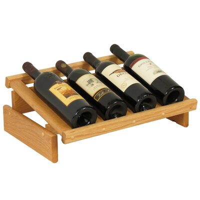 Dakota 4 Bottle Tabletop Wine Rack Finish: Light Oak