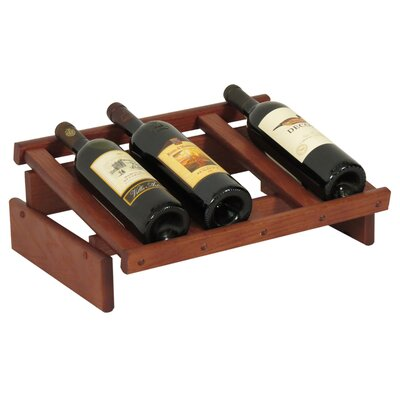 Dakota 4 Bottle Tabletop Wine Rack Finish: Mahogany