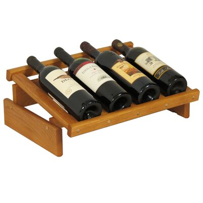 Dakota 4 Bottle Tabletop Wine Rack Finish: Medium Oak