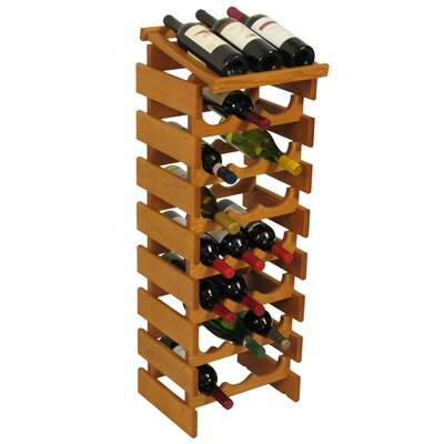 Dakota 24 Bottle Floor Wine Rack Finish: Medium Oak